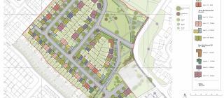 Site plan for new development in Belle Vale