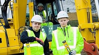 Ryan and Harry who are apprentices on our Ings project in Hull